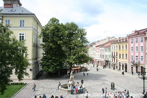 Rynok Square in center Lviv Ukraine