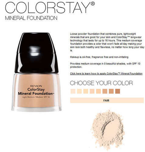 Revlon Colorstay Mineral foundation