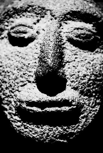 Museum — Maya Sculpture. (Fuji Neopan 1600. Nikon F100. Noritsu Koki.)