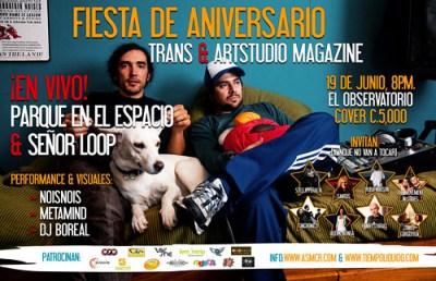 Aniversario TRANS y Art Studio Magazine