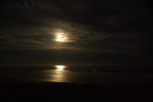 Moon on the Ocean, by LouFCD on Flickr