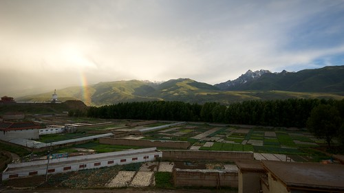 A view to the West and South of Ganze, Tibet (China).