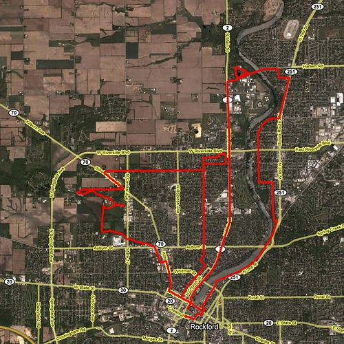 Rockford Marathon course map