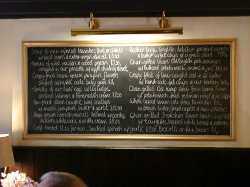 The menu, blackboard-bound