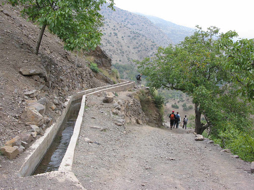 Toubkal trek - irrigation channels
