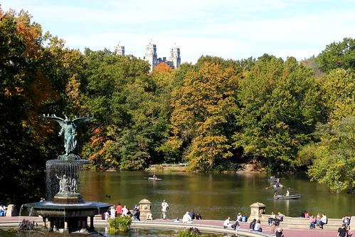 Bethesda Fountain in Central Park, viewed from the Bethesda Terrace