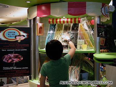 The kiosk at VivoCity