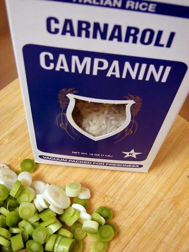 rice and green garlic