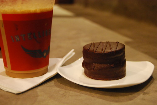 Intelligentsia Venice - Angeleno + CakeMonkey Red Velvet Chocolate Goodness by you.