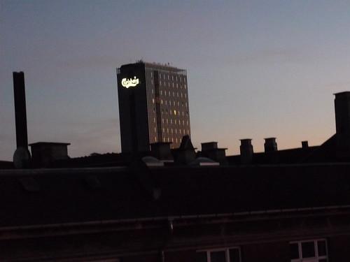 Carlsberg in Copenhagen by night