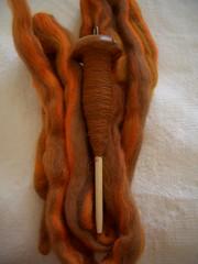 Orange Merino WIP