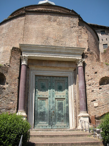 This is the Temple of Romulus. I really liked the doors.
