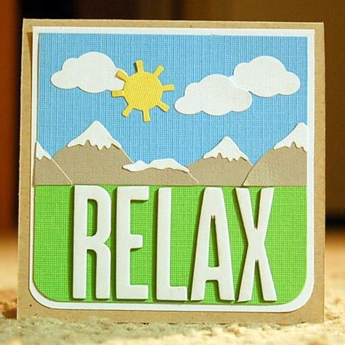 Teri's Relax Card is very soothing with its simple and serene landscape. This card was featured in Card Creations: Quick & Easy which means it would take you 5 steps or less to recreate it!