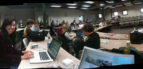 PodCamp NH Panorama featuring Christine Major (by stevegarfield)