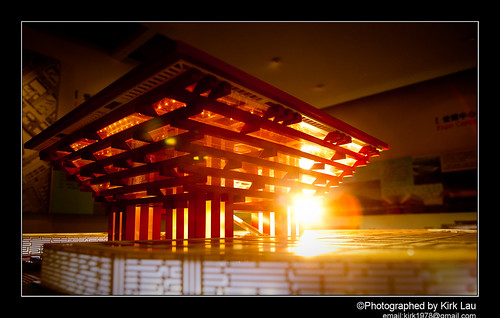 Expo 2010: The China Pavilion In front of Sunset  (Strobist)
