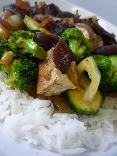 Tofu and Chinese Mushroom Stir Fry by you.