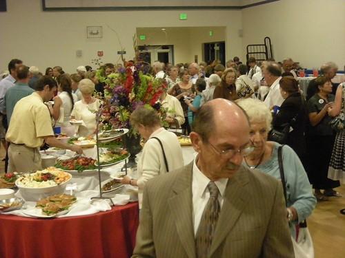 Reception after installation, St. Andrew's Saratoga California photo: copyright 2009 Katy Dickinson