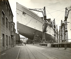 Empress of Britain at John Brown's yard near G...