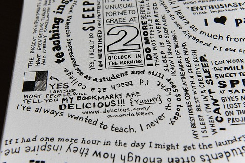 Mindmap canvas print close up