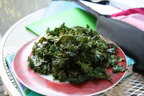 Kale chips: after
