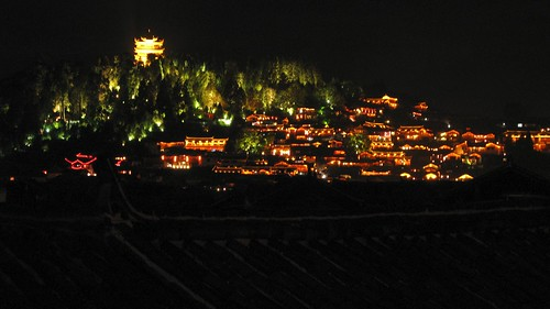 Lijian Old Town in the distance