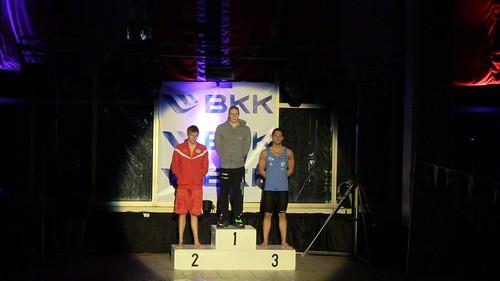 BSF 2011: Men's 400 free podium