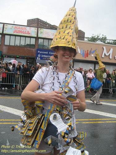 Mermaid Parade 2009: Metrocard Chrysler Building Mermaid. Photo © Tricia Vita/me-myself-i