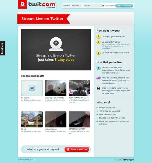 twitcam  Stream Live on Twitter