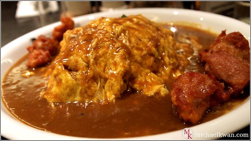 Fried Chicken and Omurice Curry