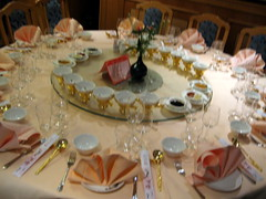 Table setup before the meal
