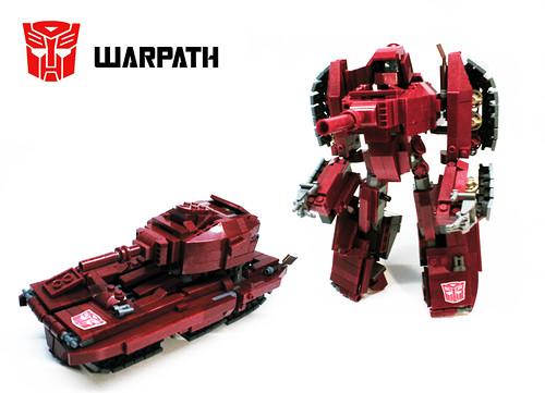 Orion Pax LEGO Warpath transformer