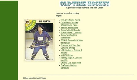 The original Hockey NW page