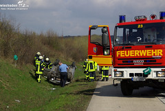 Pkw Überschlag A3 Medenbach 10.04.10