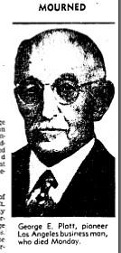 george platt dies 1936