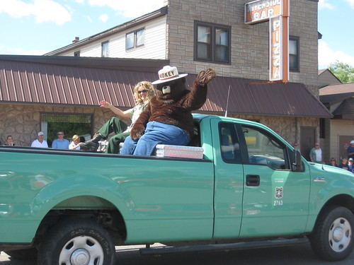 Two Famous Icons - Smokey the Bear and Riverside Pizza