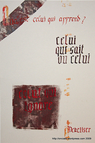 Citation calligraphiée de Carole Dekeijser