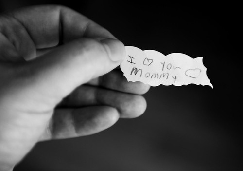 276/365: my I love you mommy note