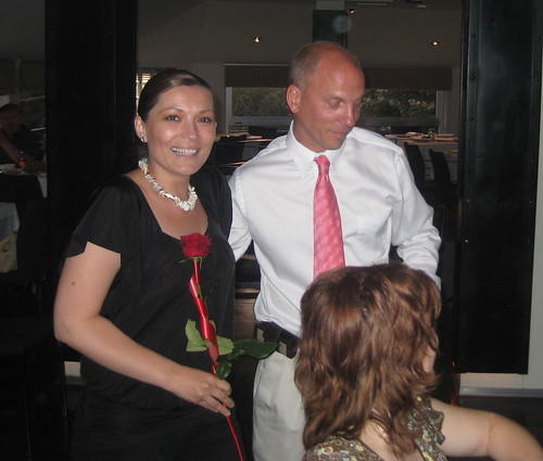 I am pictured saying thank you to the lovely Bojana.