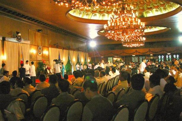 The Awarding proceedings at Rizal Hall