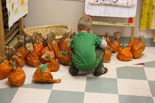 paper bag pumpkins
