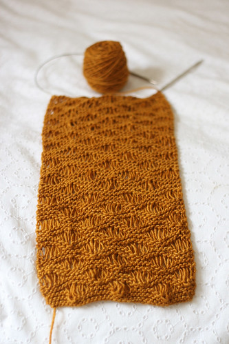 Gold Drop Stitch Scarf