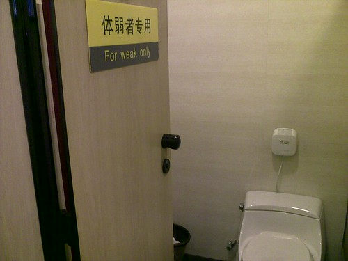 "Chinglish: Toilet Seats in China are ""for weak only"""