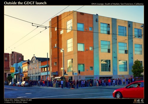 Outside the GDGT launch