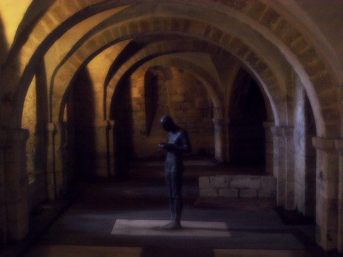 Sound II, given to Winchester Cathedral in 1986 by Antony Gormley, before he won the Turner Prize