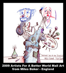 Miles Baker Mail Art - England