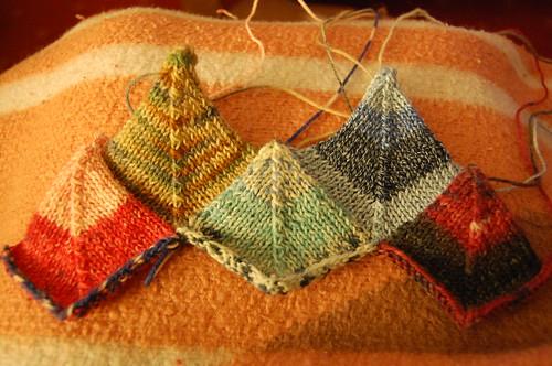 Sock yarn blanket - start