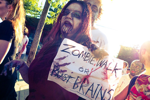 zombie walk or brains