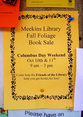 Meekins Library Fall Foliage Book Sale (10/11-12, 2009)