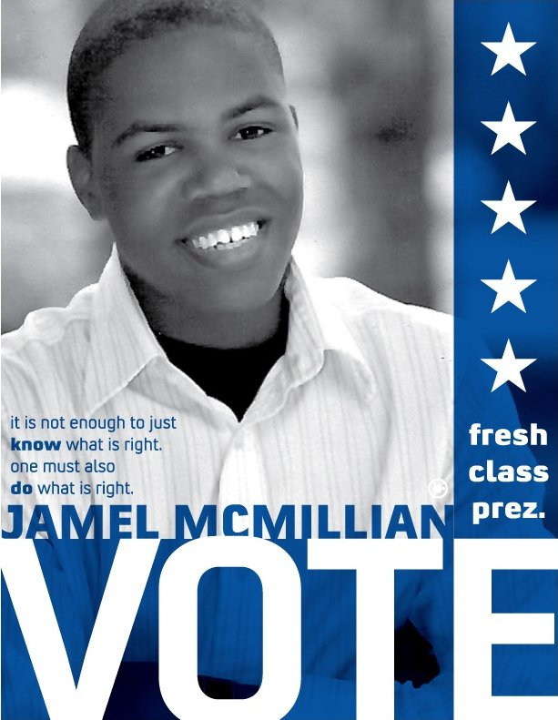 Jamel for President B&W