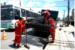 Operação Tapa Buraco. Foto: Passarinho/Pref.Olinda